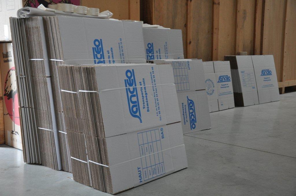Cartons de déménagement Sancéo à Quimper